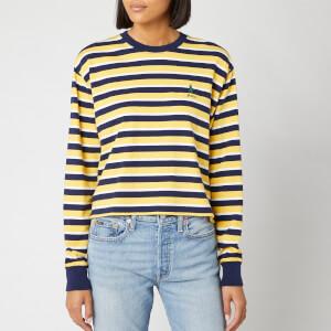Polo Ralph Lauren Women's Stripe T-Shirt - Chrome Yellow/Multi