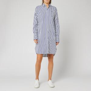 Polo Ralph Lauren Women's Long Sleeve Casual Dress - 204A White/Fall Royal Navy