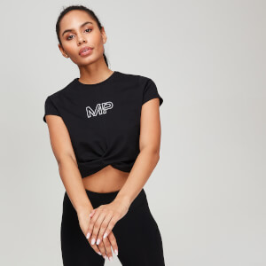 MP Rest Day Women's Twist Front T-Shirt - Black