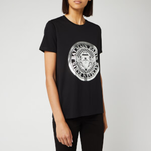 Balmain Women's Coin T-Shirt - Black