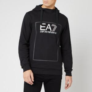 Emporio Armani EA7 Men's Boxed Logo Hoodie - Black