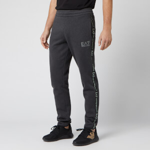 Emporio Armani EA7 Men's Sweatpants With Taping - Carbon Melange