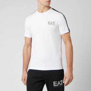 Emporio Armani EA7 Men's T-Shirt With Taping - White