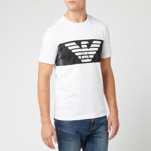 Emporio Armani EA7 Men's Large Eagle Logo T-Shirt - White