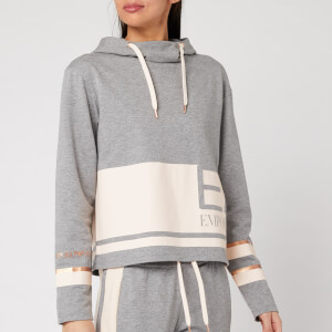 Emporio Armani EA7 Women's Colour Block Hoodie - Grey/Pink