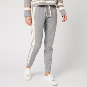 Emporio Armani EA7 Women's Sweatpants with Side Stripe - Grey/Pink