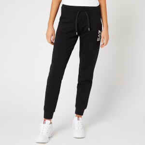 Emporio Armani EA7 Women's Small Logo Sweatpants - Black