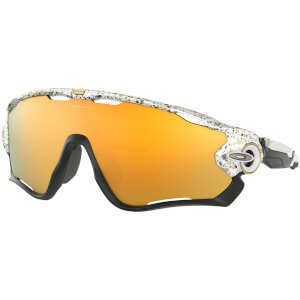 Oakley Jawbreaker Sunglasses - Splatter White/24K Iridium