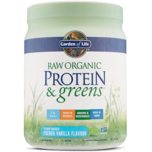 Organic Raw Protein And Greens Powder - Vanilla - 411G