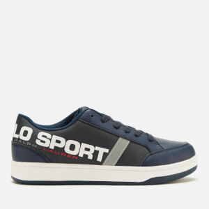 Polo Ralph Lauren Kids' Belden Polo Sport Low Top Trainers - Navy/Silver