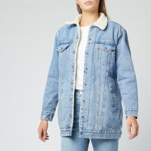 Levi's Women's New Lenghen Shearling Trucker Jacket - Clean Break Trucker
