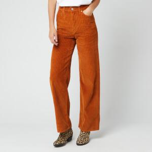 Levi's Women's Ribcage Wide Leg Jeans - Caramel Cafe Plush Cord