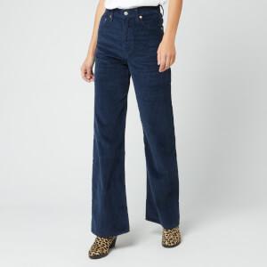 Levi's Women's Ribcage Wide Leg Jeans - Navy Blazer Plush Cord