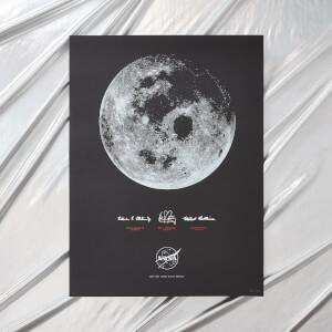 NASA Apollo 11 50th Anniversary Glow-In-The-Dark Screenprint