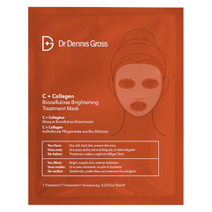Dr Dennis Gross Skincare C+Collagen Biocellulose Brightening Treatment Mask (1 Application)