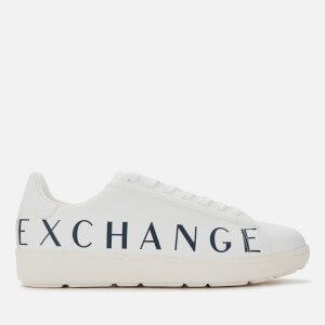 Armani Exchange Men's Leather Low Top Trainers - White/White