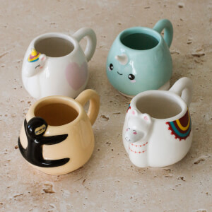 Animal Espresso Mug Set (Set of 4)