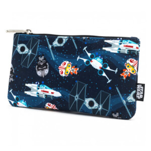 Loungefly Star Wars Chibi Ships Pouch