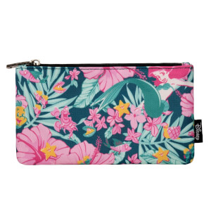 Loungefly Disney Ariel Hibiscus Zippered Pouch