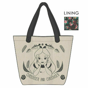 Loungefly Disney Alice in Wonderland Curiouser and Curiouser Canvas Tote Bag