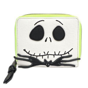 Loungefly Disney The Nightmare Before Christmas Faux Leather Bifold Zip Around Purse