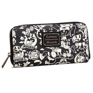 Loungefly Cuphead Black & White Wallet