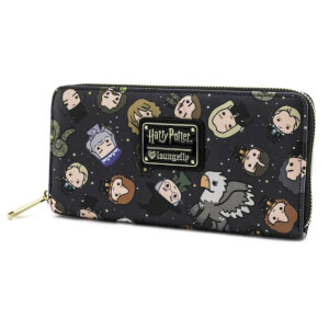 Loungefly Harry Potter Chibi Character AOP Zip Around Wallet
