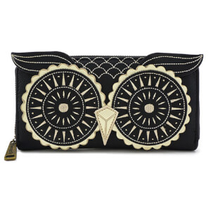 Loungefly Black and Gold Owl Wallet
