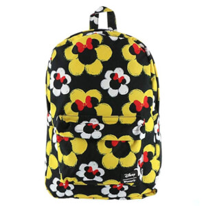 Disney Loungefly Mochila Nylon Floral Minnie Mouse