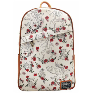 Loungefly Harry Potter Creatures Floral AOP Mini Backpack
