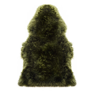 Royal Dream 100% Large Sheepskin Rug - Olive