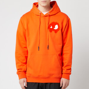 McQ Alexander McQueen Men's Pullover Large Monster Hoodie - Electric Orange