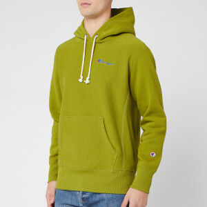 Champion Men's Small Script Hooded Sweatshirt - Green