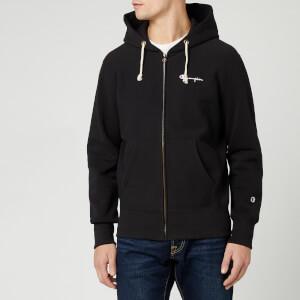 Champion Men's Small Script Full Zip Sweatshirt - Black