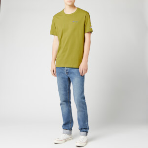 Champion Men's Small Script Crew Neck T-Shirt - Green