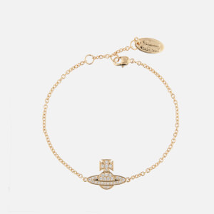 Vivienne Westwood Women's Romina Pave Orb Bracelet - Gold White