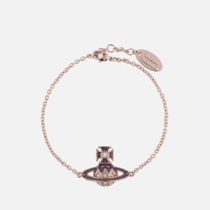 Vivienne Westwood Women's Aretha Small Bas Relief Bracelet - Pink Gold