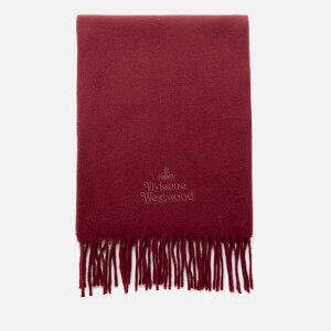 Vivienne Westwood Women's Wool Embroidered Scarf - Bordeaux