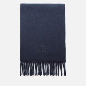 Vivienne Westwood Women's Wool Embroidered Scarf - Navy Blue