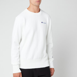 Champion Men's Small Script Sweatshirt - White