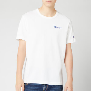 Champion Men's Small Script Crew Neck T-Shirt - White