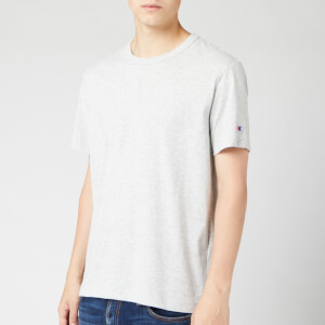 Champion Men's Sleeve Logo Crew Neck T-Shirt - Grey Marl
