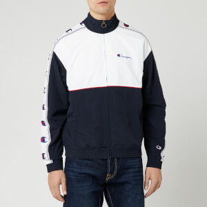 Champion Men's Full Zip Top - Navy/White