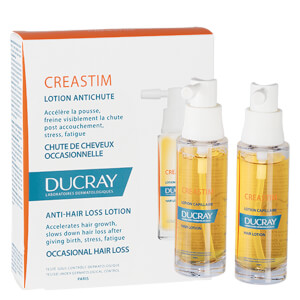 Ducray Creastim Hair Lotion Strengthening Treatment for Sudden Thinning Hair 2 x 1 oz