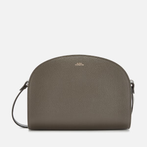 A.P.C. Women's Demi-Lune Cross Body Bag - Grey