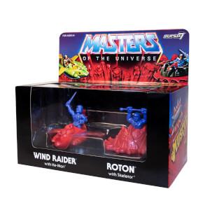 Figure M.U.S.C.L.E. di Wind Raider, He-Man, Roton e Skeletor di Masters of the Universe Super7 - Esclusiva Zavvi (pack da 4)