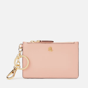 Lauren Ralph Lauren Women's Zip Medium Card Case - Mellow Pink/Porcini