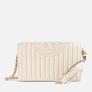 Tory Burch Women's Fleming Mini Stud Wallet Cross Body Bag - Birch