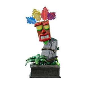 Statuetta della maschera mini Aku Aku, Crash Bandicoot, First 4 Figures - 40 cm