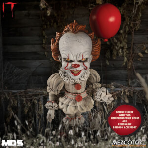 Action figure deluxe di Pennywise, da IT (2017), serie MDS, Mezco
